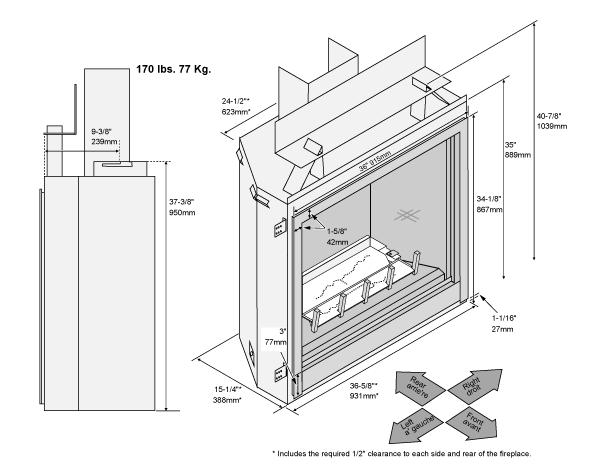 36PBCF-Firebox-Dimensions