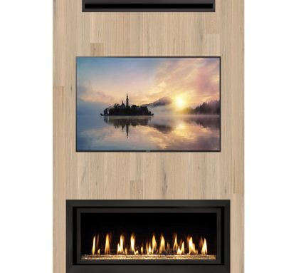 Lopi CoolSmart Wall Technology:  Hang a TV or Artwork Above Your Quiet Lopi Fireplace