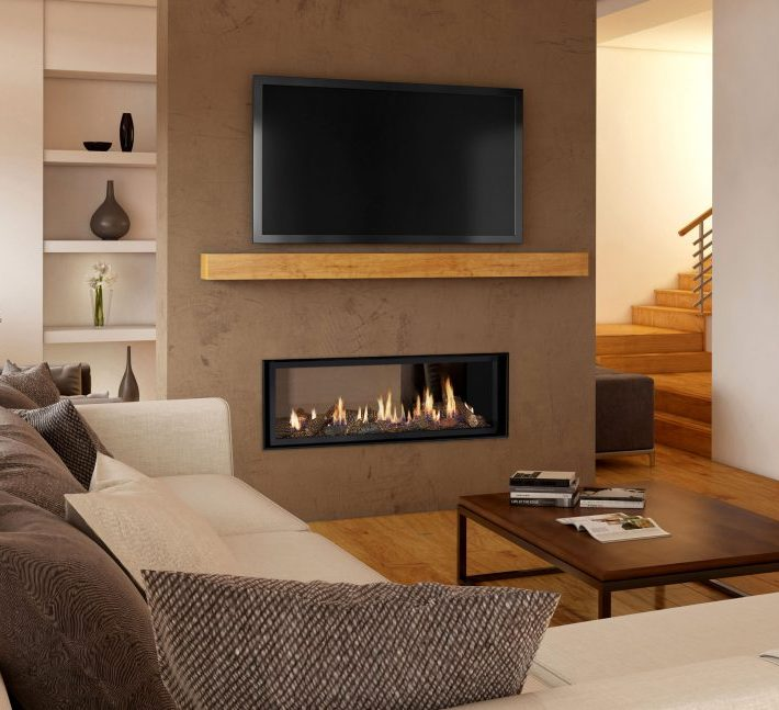 Lopi Premium Linear gas fireplaces in focus – Media and Finishing Options