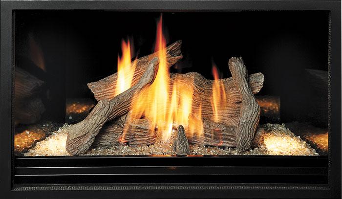 Driftwood - Black Enamel Fireback Liner