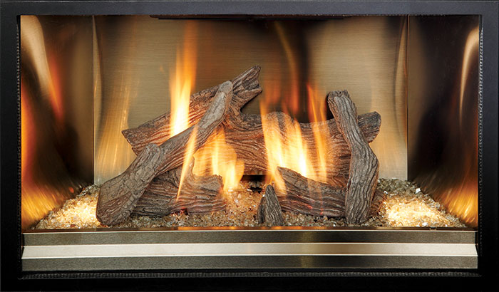 Driftwood - Stainless Steel Fireback Liner
