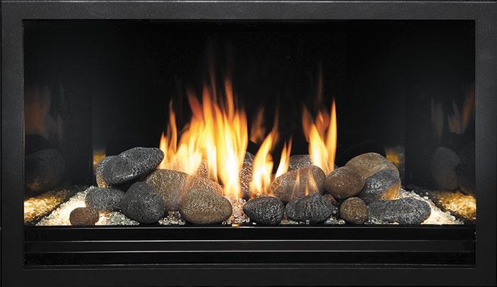 Fyre-Stone - Black Enamel Fireback Liner