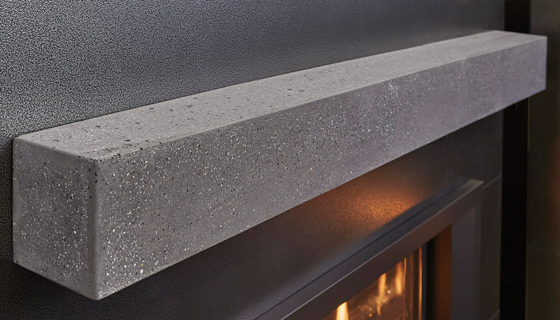 Polished Concrete Mantel
