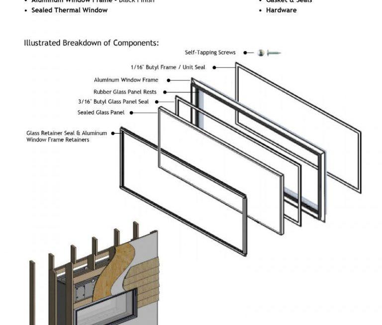 See-Thru IndoorOutdoor Exterior Window Kit